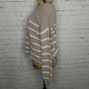 Volcom Sweaters - Volcom Grey Striped Boxy Pullover Sweater